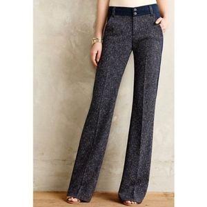 Anthropologie Elevenses Tweed Pants Size 2